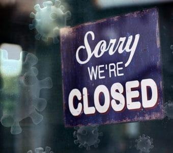 Geschäft geschlossen wegen Corona