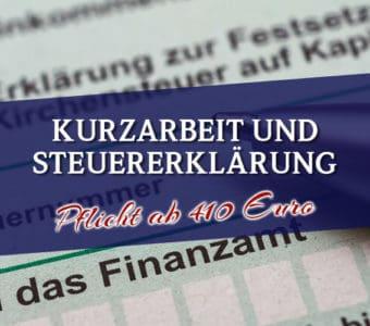 Kurzarbeit und Steuererklärung