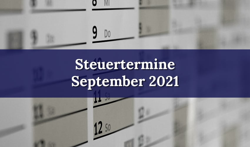 September 2021 Steuertermine